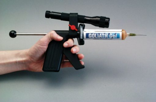 Goliath gel applicato con pistola